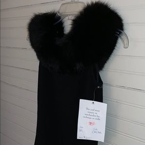😍 Ostrich Feather Off Shoulder Black Classy Top